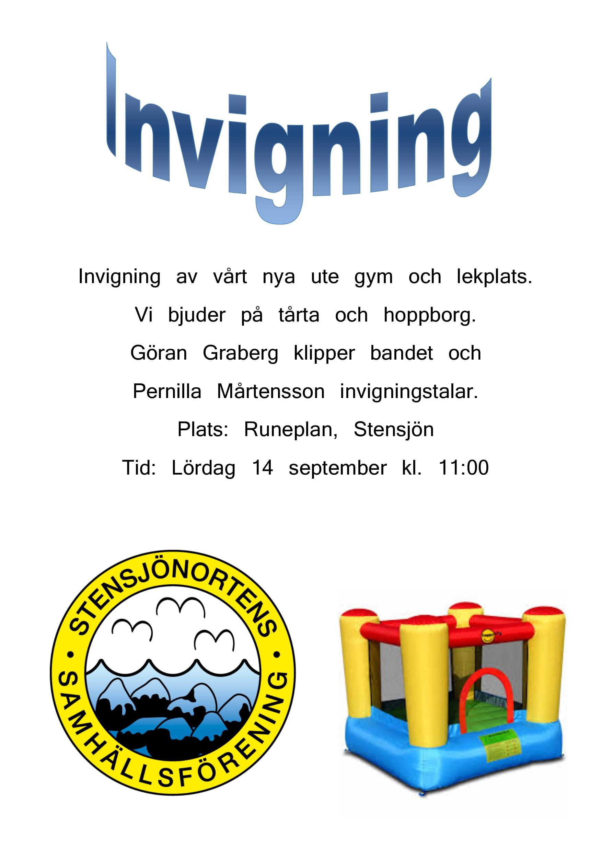 Invigning @ Runeplan, Stensjön